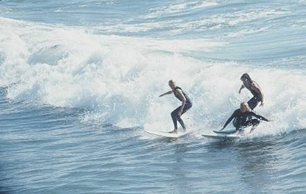 26/33: Surfing at one of Los Angeles County's beaches