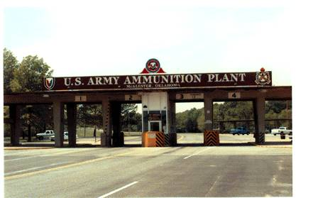 McAlester Army Ammunition Plant Front Gate