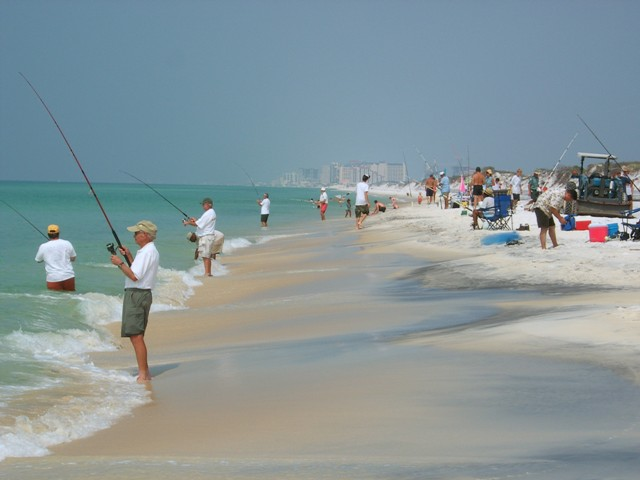 23/42: Fishing is a popular activity on the Emerald Coast.