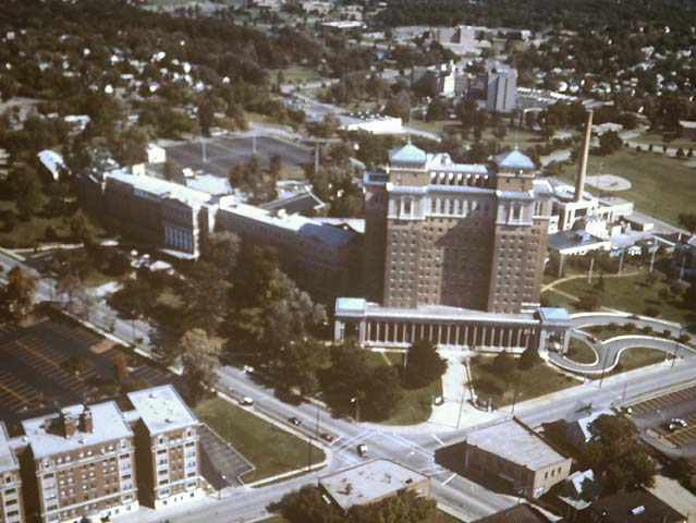 12/14:  Aerial view of the Hart-Dole-Inouye Federal Center and the northeast side of Battle Creek.
