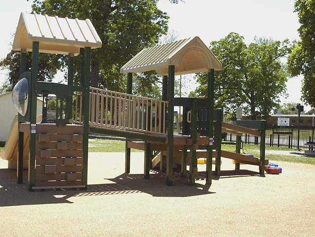 7/14: The preschool play ground at the Stars and Stripes Learning Station child development center.