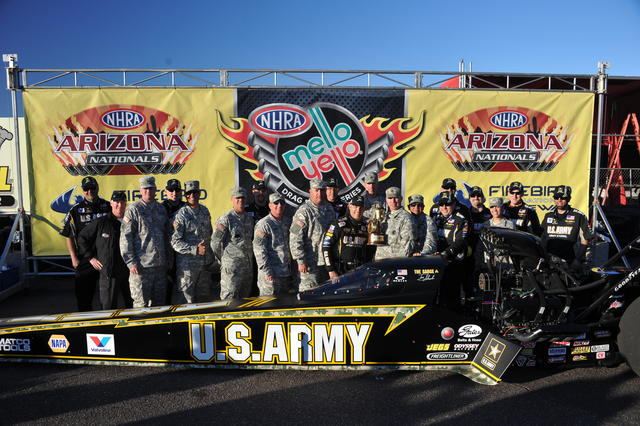 6/6: Members of the Phoenix Recruiting Battalion at the NHRA races in Phoenix, AZ