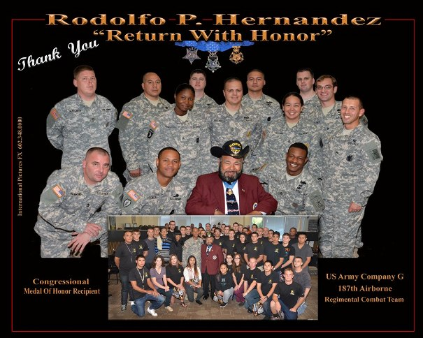5/6: The Glendale Recruiting Center welcomes Korean War veteran and Medal of Honor Recipient Rudy Hernandez during a Future Soldier training event.