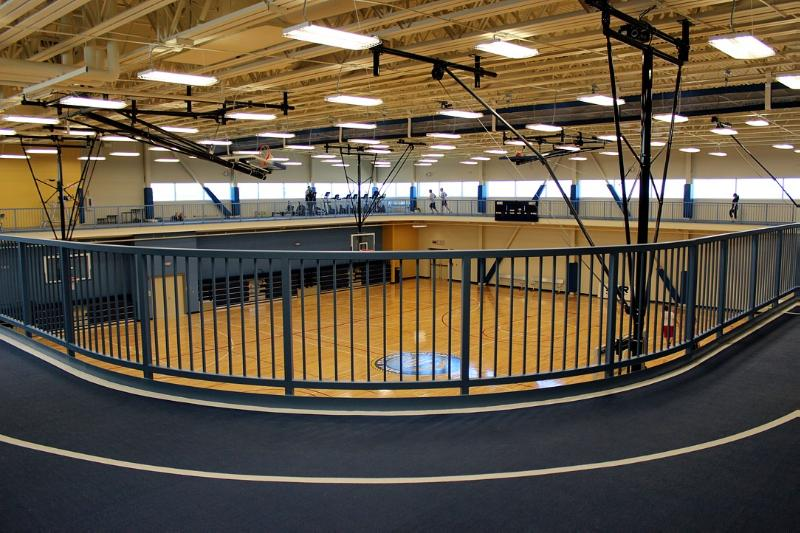 JH Chafee Fitness Center Overhead Running Track